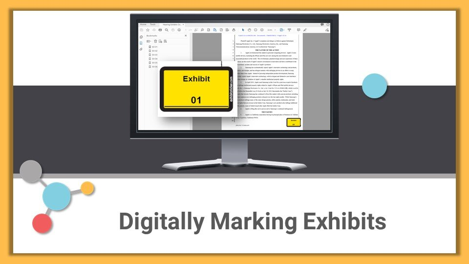 Digitally Marking Exhibits